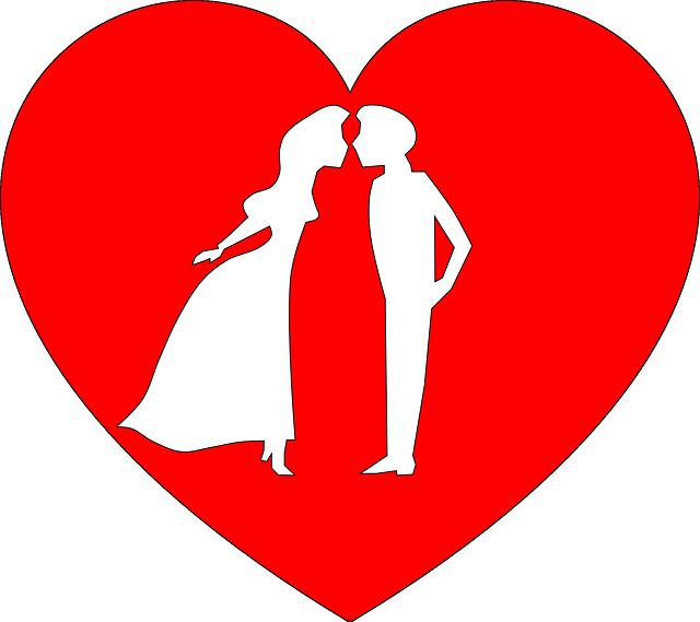 Un cuore con due innamorati dentro