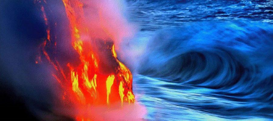 Cosa succede se la lava finisce nel mare?