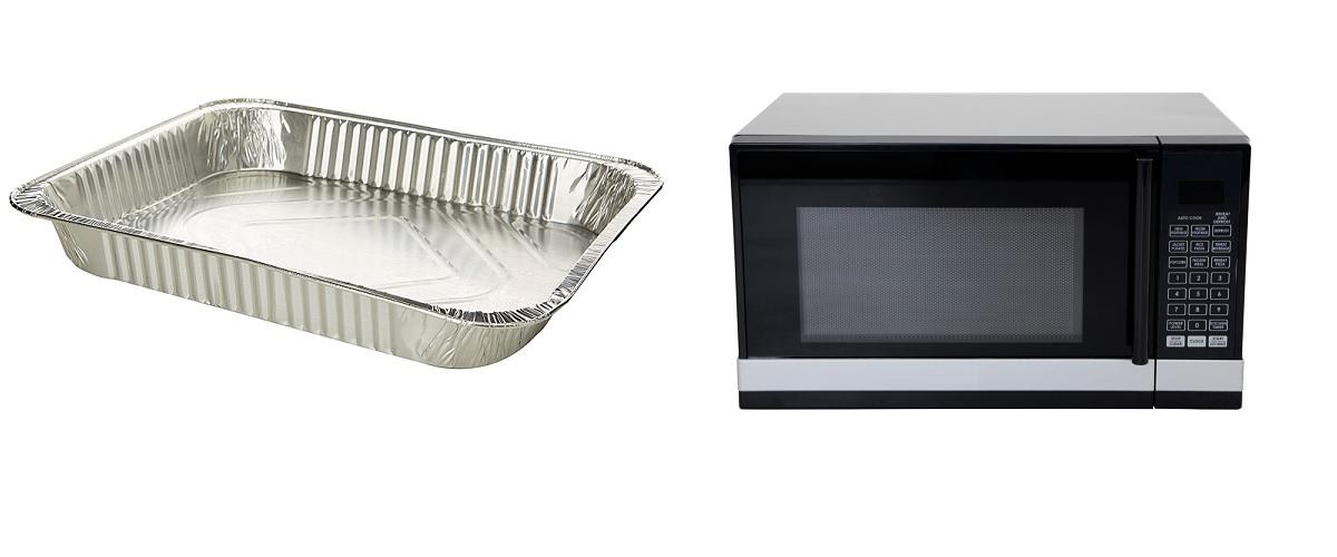 Si può mettere l'alluminio nel forno a microonde?