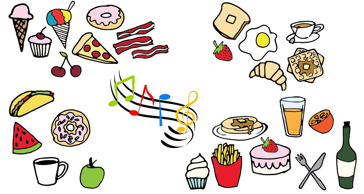 Musica e gusti del cibo