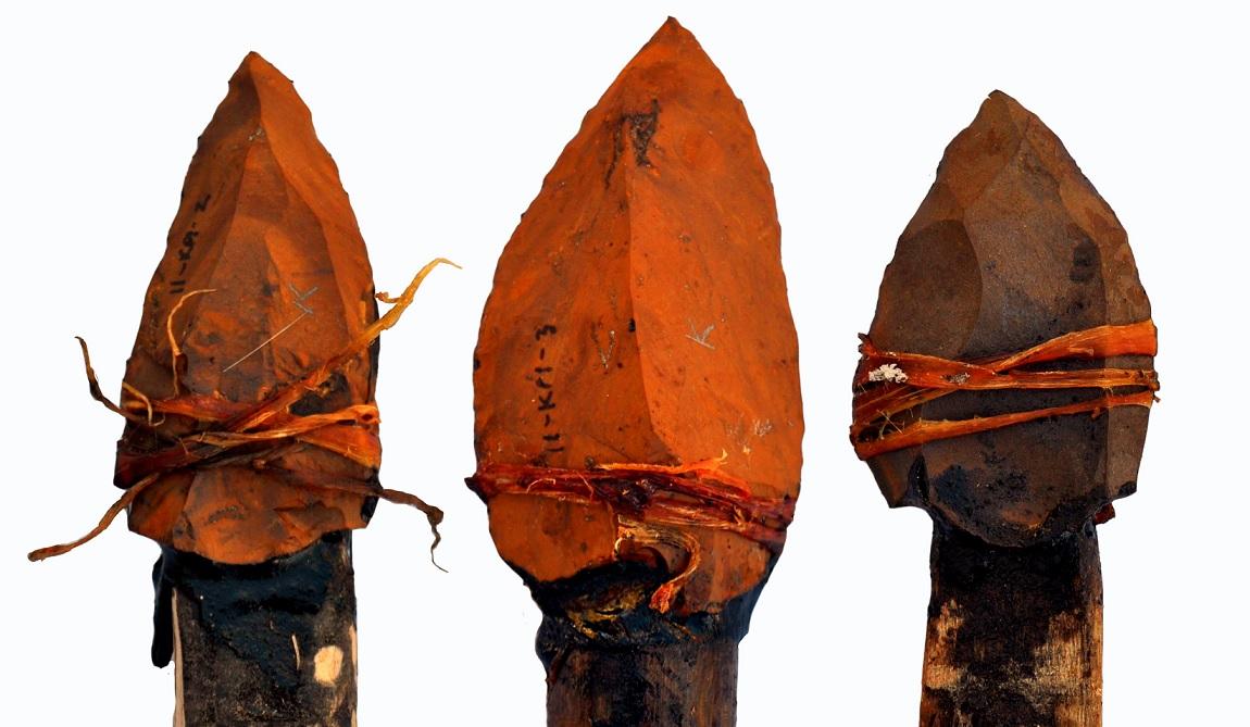 I reperti ritrovati  nel sito di Kathu Pan 1, in Sudafrica