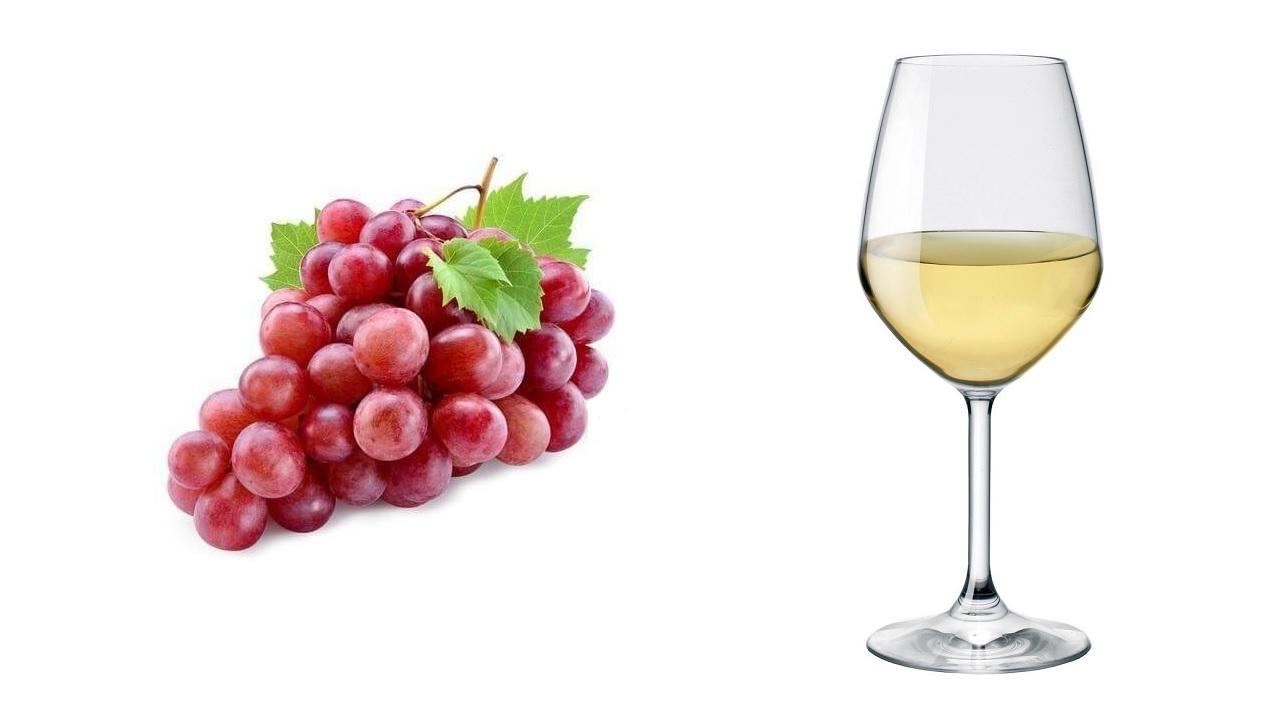 Ottenere del vino banco dall'uva rossa