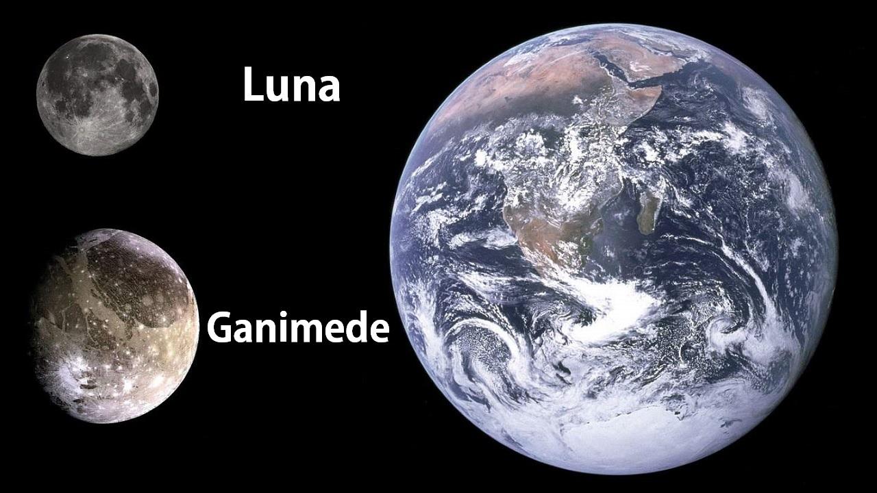 La luna più grande del sistema solare, Ganimede