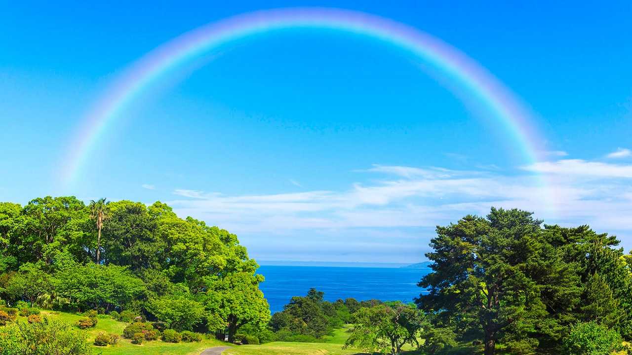 Gli arcobaleni possono essere dritti?