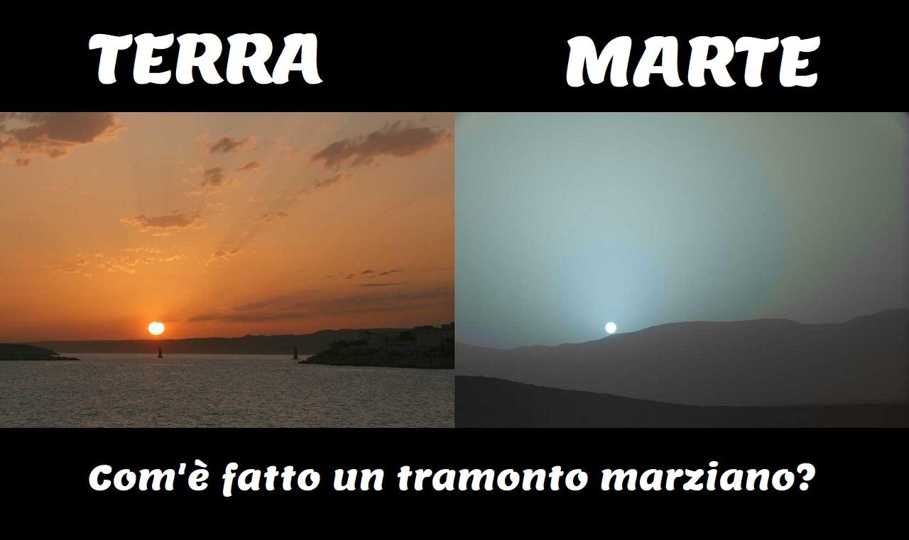 Come sono i tramonti su Marte?