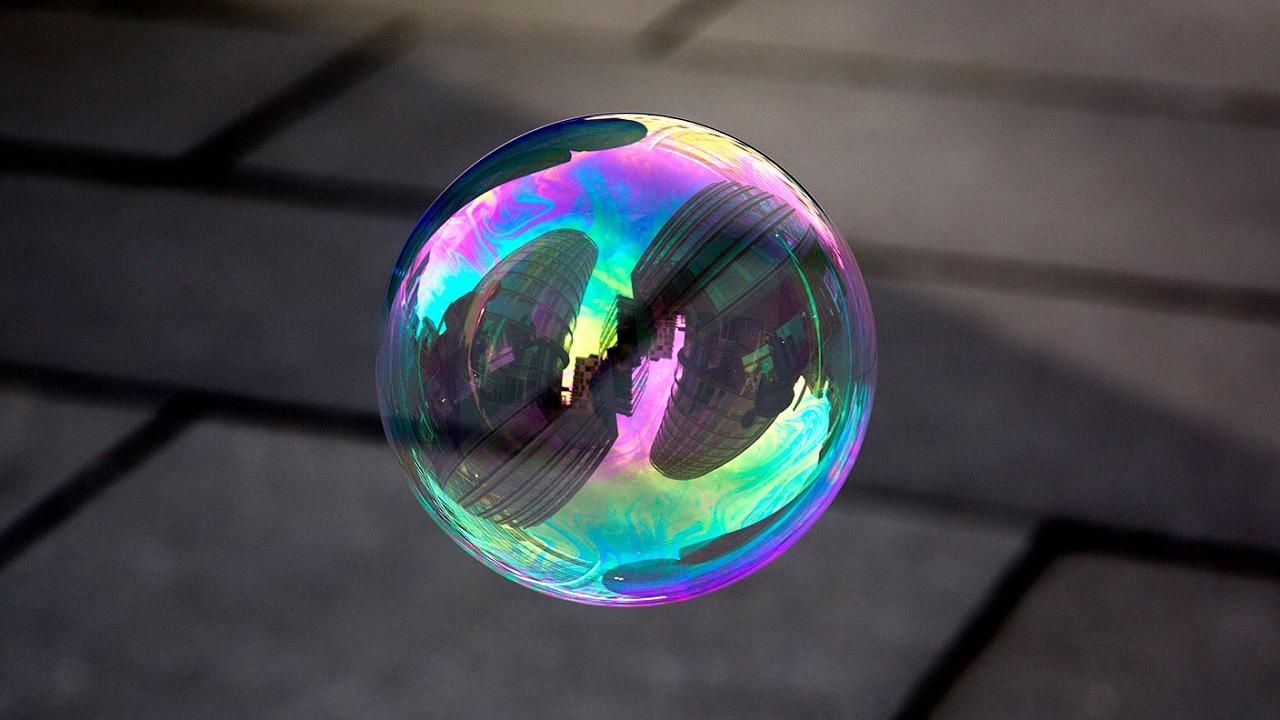 Il colore delle bolle di sapone