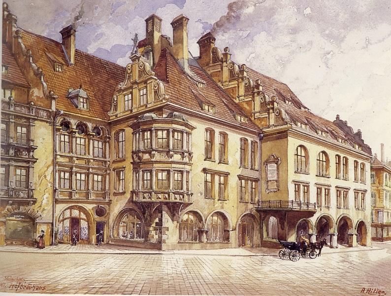 Un dipinto di Adolf Hitler